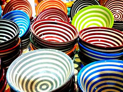 Creamic Bowls Art Print