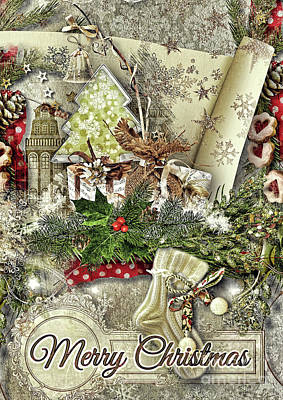 Digital Art - Creamy Christmas by Mo T