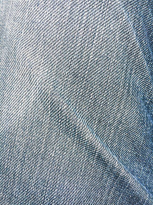 Creased Denim Art Print by Tom Gowanlock
