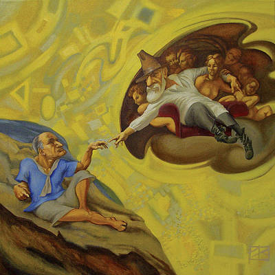 Carl Jung Painting - Creating Of The Jung. by Oleg Lipchenko