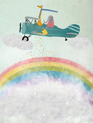 Painting - Creating Rainbows by Bleu Bri