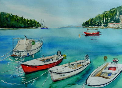 Wall Art - Painting - Creation Coastline by Sonia Mocnik