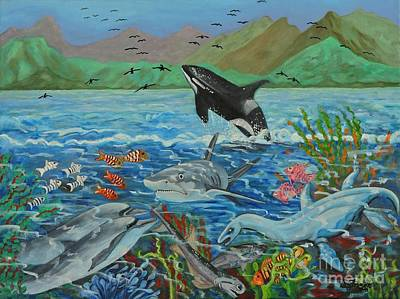 Creation Fifth Day Sea Creatures And Birds Art Print