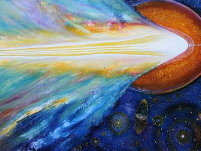 Cosmic Space Painting - Creation Myth by Michelle Tourikian