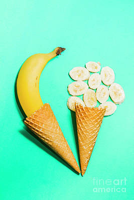 Creative Banana Ice-cream Still Life Art Art Print