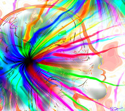 Colorful Abstract Digital Art - Creative Energy From Within by Abstract Angel Artist Stephen K