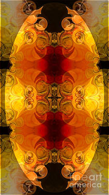 Digital Art - Creative Fire And Flames Abstract Organic Art By Omaste Witkowsk by Omaste Witkowski