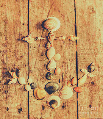 Photograph - Creative Maritime Anchor Made Of Seashells by Jorgo Photography - Wall Art Gallery