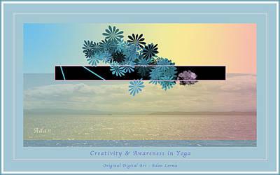 Art Print featuring the photograph Creativity And Awareness In Yoga by Felipe Adan Lerma