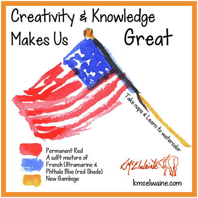 Painting - Creativity And Knowledge by Kathleen McElwaine