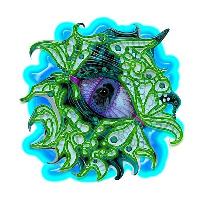 Digital Art - Creature Eye by Adria Trail