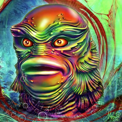 Creature from the black lagoon art fine art america for Naomi jansen