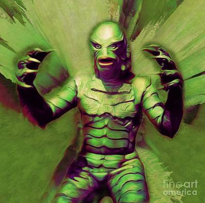 Science Fiction Royalty-Free and Rights-Managed Images - Creature From the Black Lagoon by Mary Bassett