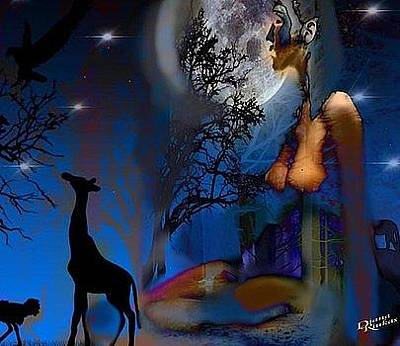 Digital Art - Creatures Of The Night by Diana Riukas