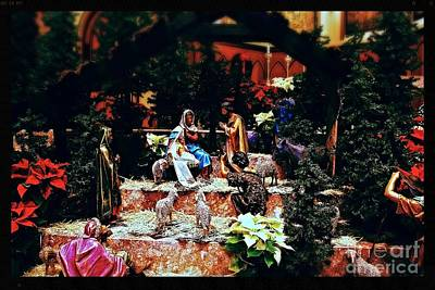 Frank J Casella Royalty-Free and Rights-Managed Images - Color Vibe Nativity - Natural Light with Black Border by Frank J Casella