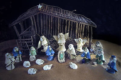 Photograph - Creche Top View  by Nancy Griswold
