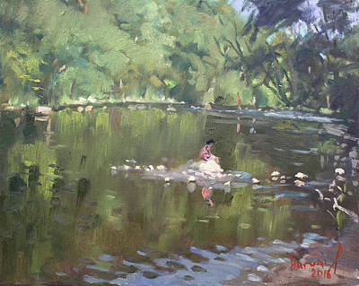 Georgetown Wall Art - Painting - Credit River By Norval On by Ylli Haruni