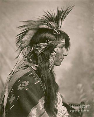 Young Man Painting - Cree Indian by Celestial Images