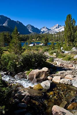 Turquoise Lake Photograph - Creek At Heart Lake by Chris Brannen