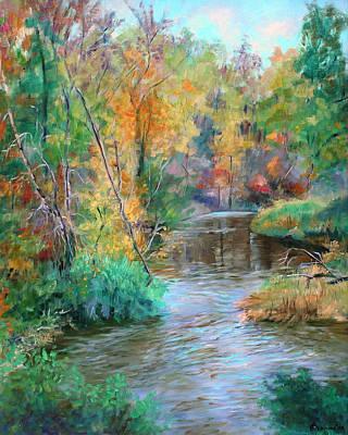 Creek At Whitney Point  Ny Print by Ethel Vrana