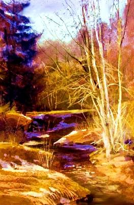 Painting - Creek At Wolf by Joseph Barani