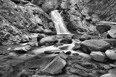 Photograph - Creek Blow Falls Creek Falls Black And White by Adam Jewell
