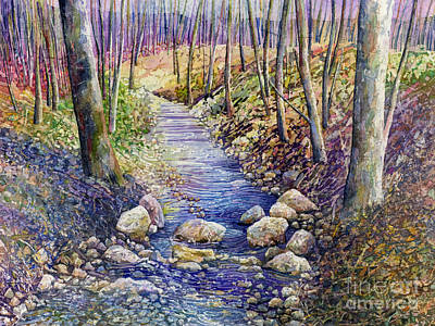Animal Watercolors Juan Bosco - Creek Crossing by Hailey E Herrera