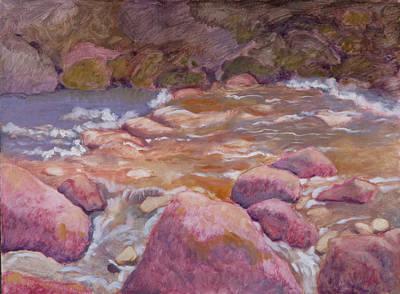 Creek In Spring Art Print by Robert Bissett