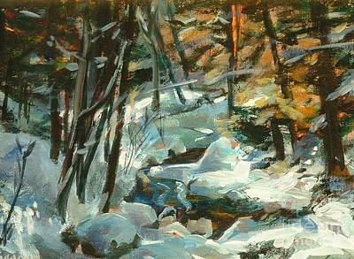 Painting - Creek In The Cold by Claire Gagnon