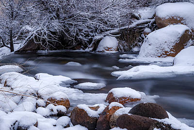 Photograph - Creek In Winter by Cat Connor