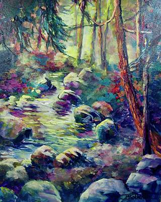 Painting - Creek Near Castlegare by Bonny Roberts