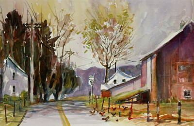Collector Painting - Creek Road Farm by Joseph Giuffrida