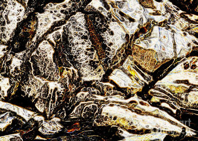 Creek Rock Abstract Art Print by Marv Vandehey