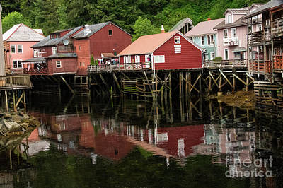 Photograph - Creek St Ketchikan Alaska by Louise Magno