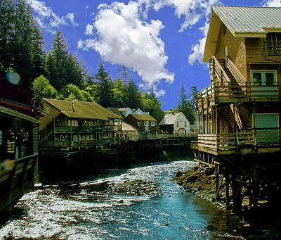 Photograph - Creek Street Boardwalk, Ketchikan Alaska by Michael Ziegler