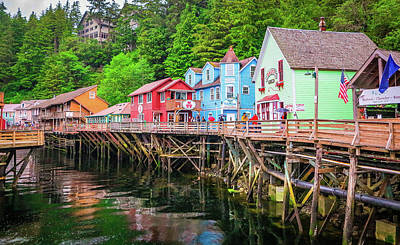 Photograph - Creek Street Ketchikan Alaska by Jason Brooks