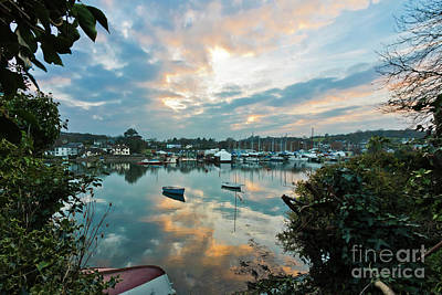 Photograph - Creek Sunset Mylor Bridge by Terri Waters