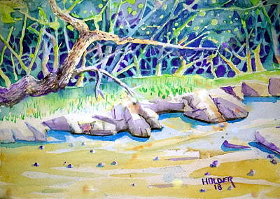 Painting - Creekbed by Steven Holder