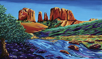 Creekside Cathedral Pano Art Print by Clark Sheppard