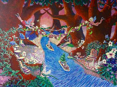 Painting - Creekside Fairy Celebration by Jeanette Jarmon