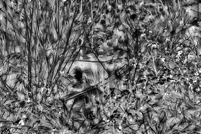 Photograph - Creekside In Black And White by Gina O'Brien