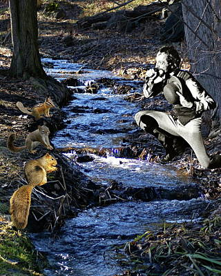 Art Print featuring the photograph Creekside Serenade By Ian by Ben Upham