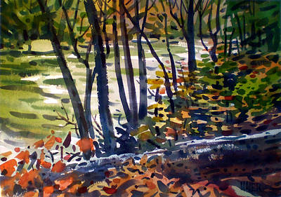 Creekside Tranquility Art Print by Donald Maier