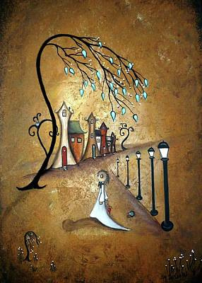 Creeper Village Art Print by Charlene Zatloukal