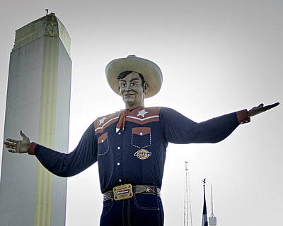 Photograph - Creepy Big Tex by Philip A Swiderski Jr