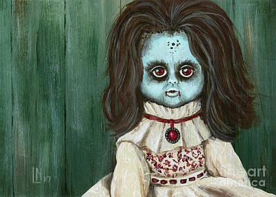 Painting - Creepy Christine by Lisa Norris