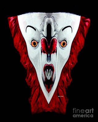 Digital Art - Creepy Clown 01215 by Rafael Salazar