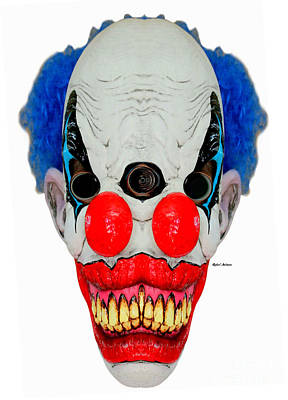 Digital Art - Creepy Clown by Rafael Salazar