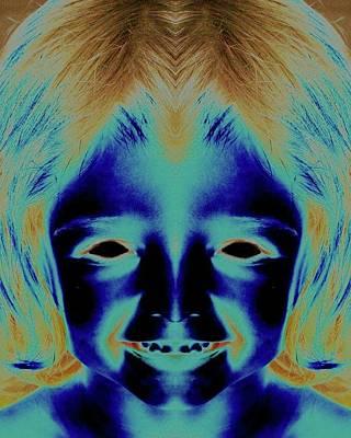 Creepy Daughter 2 Art Print by Tisha Beedle