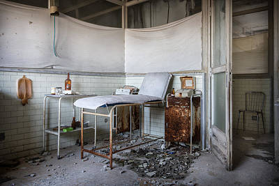 Creepy Exammination Room - Abandoned School Building Art Print by Dirk Ercken